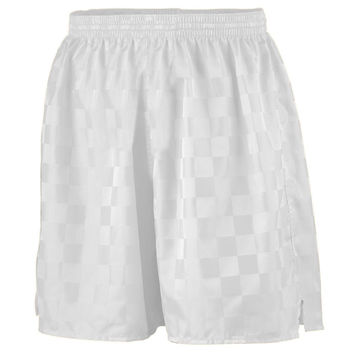 Augusta 431 Long Checkerboard Nylon Short-Youth - White
