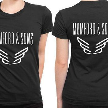 CREYH9S Mumford And Sons Logo Band Tour 2 Sided Womens T Shirt