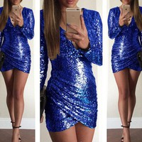 CREY7ON NIGHTCLUB SEQUINED BACKLESS DRESS