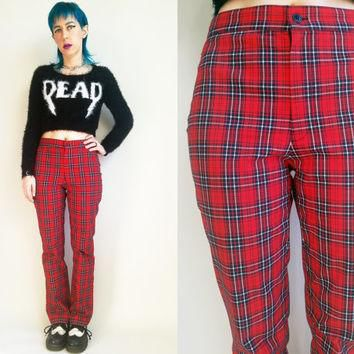90s Clothing Plaid Pants Polo Jeans Co. Ralph Lauren Vintage 90s High Waisted Pants Re