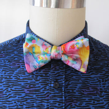 Pastel Frosting Bow Tie