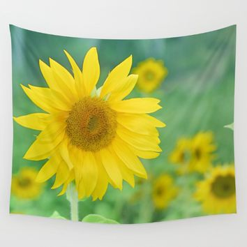 Sunflowers. Vintage dreams Wall Tapestry by Guido Montañés