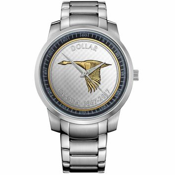 OZ SILVER CANADIAN COIN Metal Watch
