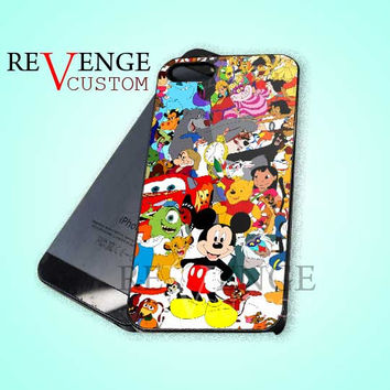 Disney Character Design - iPhone 4/4s/5 Case - Samsung Galaxy S3/S4 Case - Black or White