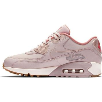 Nike Air Max 90 Trending Women Personality Leather Sport Shoe Sneakers I