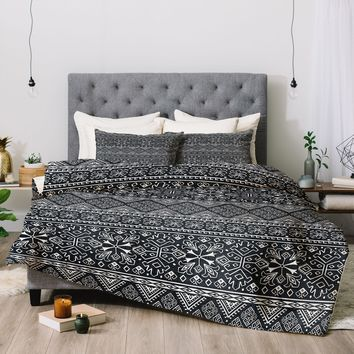 Heather Dutton Grand Bazaar Slate Linen Comforter