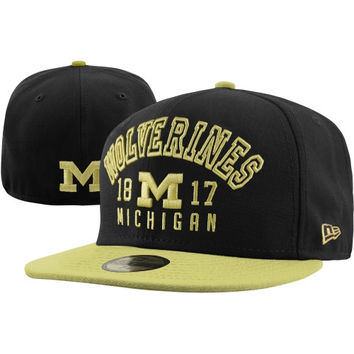 New Era Michigan Wolverines Word Knock 59FIFTY Fitted Hat