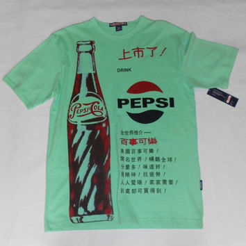 Vintage 1990s Pepsi Cola Bottle T Shirt Medium NWT