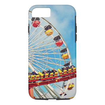 Ferris wheel roller coaster photo cell phone case