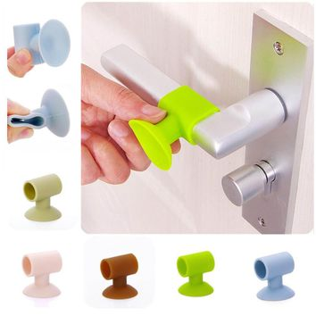 1pc Door Knob Silencer Crash Pad Wall Protectors Silicone Door Stopper Anti Collision Stop Products