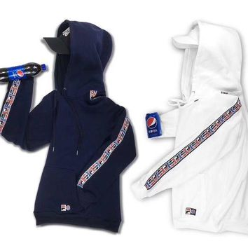 ONETOW FILA x Pepsi Fashion Hoodie Top Sweater
