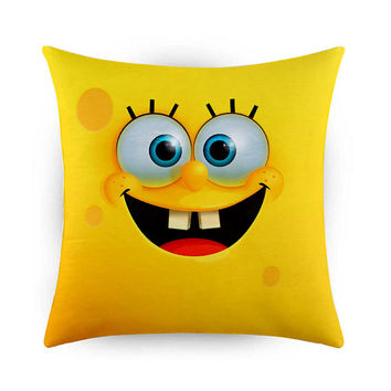 Funny Face Spongebob, Pillow Cases, Covers, Decorative Pillow Case