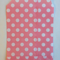 25 Light Pink Polka Dot favor bags / Treat Bags / Wedding Favor Bags / Birthdays /Party Favor Bags / Polka Dot Paper Treat Bag / Bakery Bags