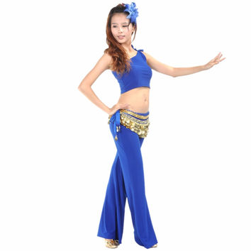 Sexy Belly Dance One Shoulder Crop Top Summer Short Shirt Basic Dance Vest Quality