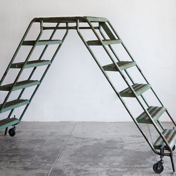 Vintage Industrial Double Ladder