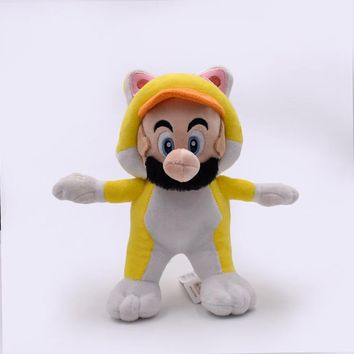 Super Mario party nes switch 18cm Yellow cat  Plush Toy  3D World Plush Stuffed Doll Retail   AT_80_8