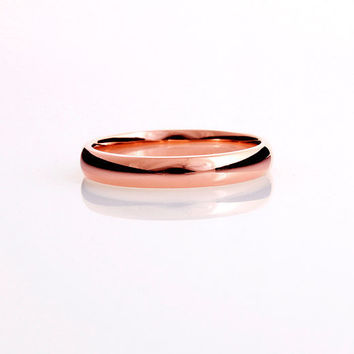 Rose Gold wedding band, Ring, Rose gold, Thin wedding, Simple wedding band, promise, commitment, fine, Red Gold