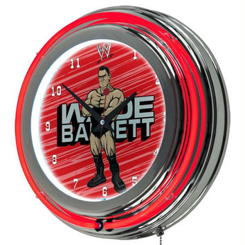 WWE Kids Wade Barrett Neon Clock - 14 inch Diameter