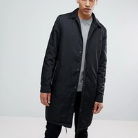 Calvin Klein Jeans Trench Coat With Back Print at asos.com