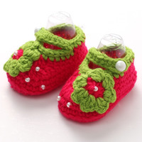 Handmade Knitting Soft Baby Shoes Crochet Slippers Zapatos Bebe;Newborn Photo Props 3D Flower Baby Girl Shoes Toddler Crib Shoes