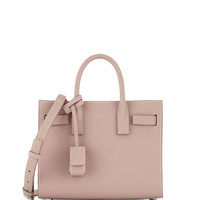 Saint Laurent Sac de Jour Nano Leather Satchel Bag, Pink