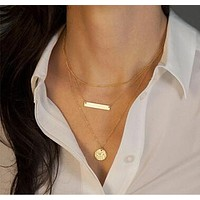 18K gold Plating Multi layers Chains Chokers Necklaces