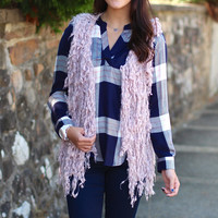 Shaggy Style Vest {Lilac}