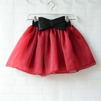 Women TUTU Bubble Short Mini Skirt Skater Party Plain Dots Gauze Skirts Dress
