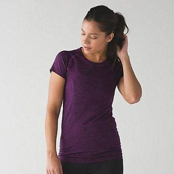 DCCKU62 Lululemon Women Sport Yoga Stretch Tunic Shirt Top Blouse
