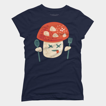 Funny Poisoned Mushroom Character T Shirt By Boriana Design By Humans