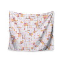 "Rachel Watson ""Cobble"" Coral Orange Wall Tapestry"
