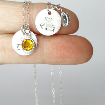 Hand stamped jewelry set