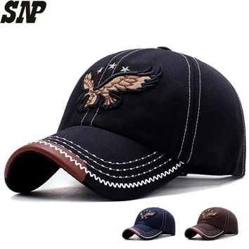 Trendy Winter Jacket SNP Summer Baseball Cap Men Visor Dad Hat Cap For Women Casual Eagle Embroidery Snapback Caps Male Bone Baseball Cap Hats AT_92_12