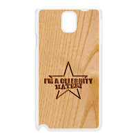 Carved on Wood Effect_Celebrity Hater White Hard Plastic Case for Galaxy Note 3 by Chargrilled