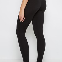 Black High Waist Soft Knit Legging | Leggings | rue21