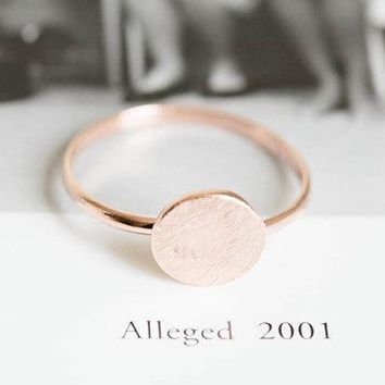 SMJEL 2017 New Simple Brushed Matte Round Rings For Women Geometric Circle Thin Ring Party Jewelry Birthday Gifts Mujer R082