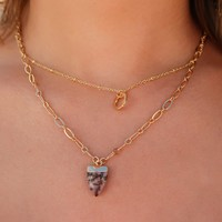 Piece Of Her Necklace: Gold/Multi