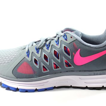 Nike Women's Zoom Vomero 9 Gray/Pink Running Shoes 642196 006