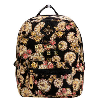 New Arrival Hot Sale Small Women Backpack Fashion Ladies Casual Style Canvas Floral Prined Backpack