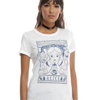 Disney Alice In Wonderland Curiouser And Curiouser Girls T-Shirt