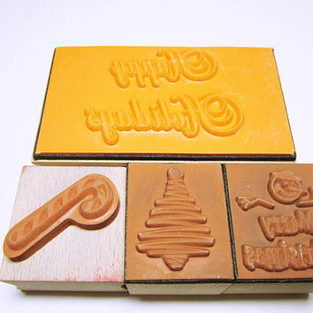 Assorted Christmas Stamps Rubber Stamp Set Card Making Scrapbooking Rubber Stamp Supplies Christmas Card Art CHRISTMAS STAMPS