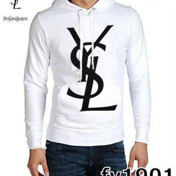 DCCKB62 YSL Fashion Casual Men Long Sleeve Pullover Hoodie G