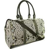 Faded Glory Women's Canvas Printed Weekender Handbag - Walmart.com