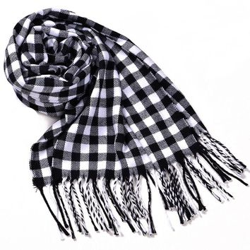 Fashion Scarves For Men Women Unisex England Plaid Scarf Faux Cashmere Autumn Winter Blanket Wraps Shawls Scarves
