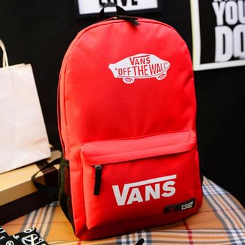Vans Casual Sport Laptop Bag Shoulder School Bag Backpack