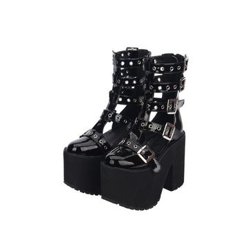 Gladiator  Buckled Sandals