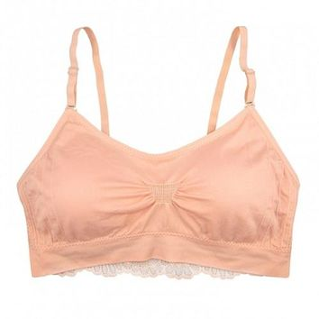 Lace Back Scoopneck Bra