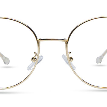 Women's full frame metal eyeglasses