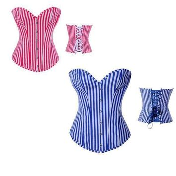 Hot Deal Cute On Sale Stripes Corset Sexy Slim Exotic Lingerie [6595867843]