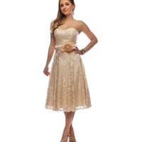 Promo-shelby- Khaki Prom Dress